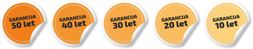 Garancija kritine do 50 let