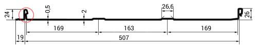 Klik kritina Rabek tehnični prerez