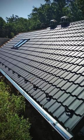 Streha stanovanjske hiše - kovinska kritina Peterle